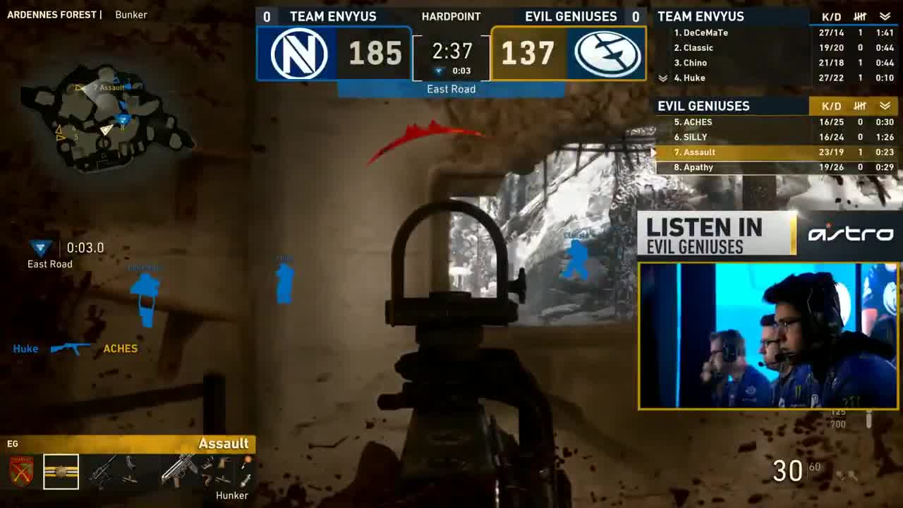 Mlg Video Evil Geniuses Are Your Call Of Duty World League Champions Upsilon Circuit Is One Part Game Show And All Listen To Comms As They Fight For Playoffs